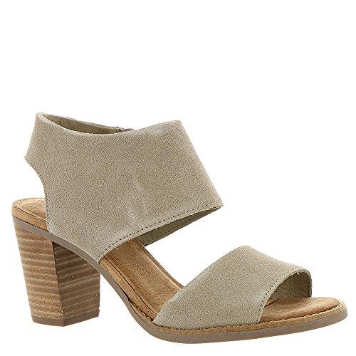 Toms Women's Majorca Cutout Sandal - Desert Taupe Suede, 11 B(M) US