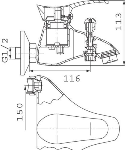 Edelstahl Einhandmischer Wannenarmatur Badarmatur Badewannen Wasserhahn von FERRO Modell SWING PVD