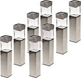 GreenLighting Solar Rectangular Bollard Pathway Light (8-Pack)