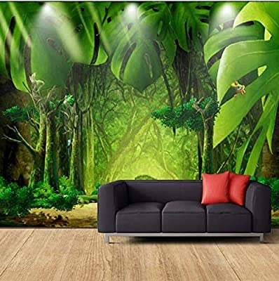 NXMRN Large creative landscape painting forest jungle banana leaf ...