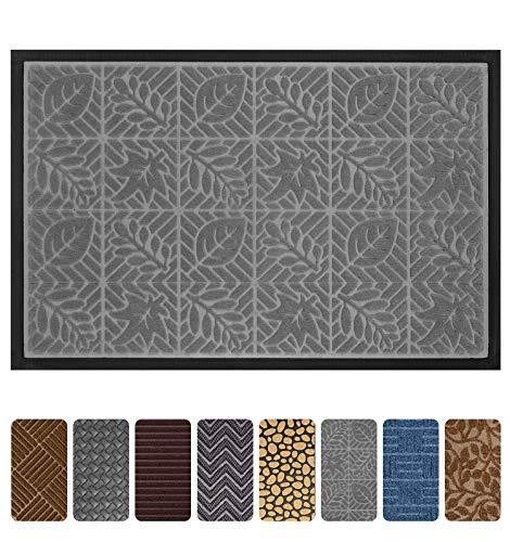 Gray Outdoor Door Mats - Mibao Durable Rubber Doormat, 24