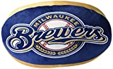The Northwest Company MLB Milwaukee Brewers Cloud Logo Pillow, One Size, Multicolor