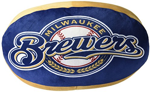 Pillow Nba Northwest (The Northwest Company MLB Milwaukee Brewers Cloud Logo Pillow, One Size, Multicolor)