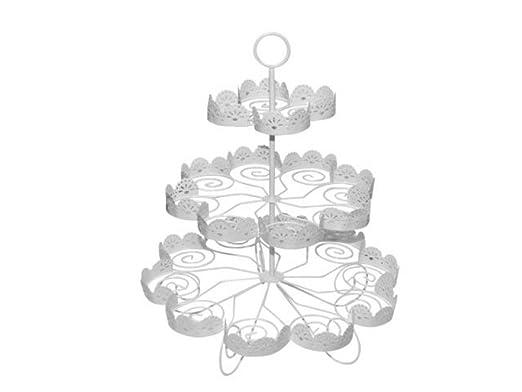 Expositor de Metal Decorativo 3 Bases para Tartas y Cupcakes ...