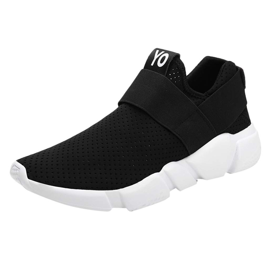 Kauneus Sneakers for Women Men's Stretch Hollow Out Breathable Lightweight Sport Shoes Running Athletic Shoes Black by Kauneus Fashion Shoes