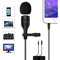 Anoak Professional Level Lavalier Microphone, Crystal Clear Lapel Mic for iPhone, Smartphone/ DSLR Camera/ Laptop, PC Computer/ Recorder - Noise Canceling