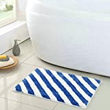Elegant Kitchen Rugs Uphome Elegant Microfiber Diagonal Stripes Bathroom Shower Accent Rug - Non-slip Soft Decorative Bathroom Doormat Kitchen Mat (24