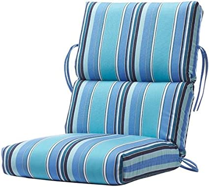 Amazoncom Bullnose High Back Outdoor Chair Cushion 4hx22wx45d