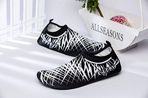 norocos Männer Leichte Wasser Schuhe Weiche Quick-Dry Aqua Socken Für Strand Schwimmen Surf Yoga Weiß