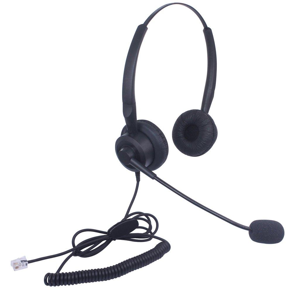 X10A1 Xintronics Auriculares Tel/éfono Fijo Mono RJ9 Cascos con Cancelaci/ón de Ruido Micr/ófono para Aastra Allworx ShoreTel Plantronics NEC Alcatel Lucent Digium Siemens ROLM