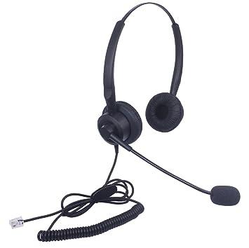 Xintronics Telefon Headset RJ11 Binaural mit Noise Cancelling Mikrofon ef6a263f8b