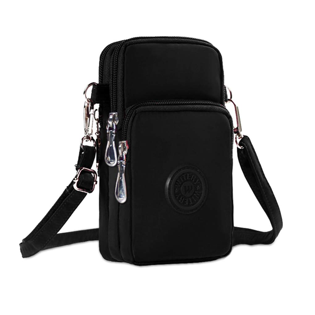 WITERY Waterproof Nylon Cute Crossbody Cell Phone Purse Smartphone Wallet Bag for Women by WITERY