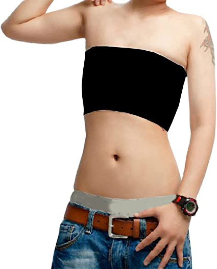 Breathable Flat Les Lesbian Tomboy Compression Tube Top Strapless Chest Binders