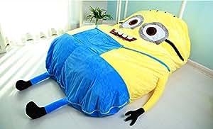 Cute Minions Cartoon Bed Mattress Sleeping Bag Pad Sofa