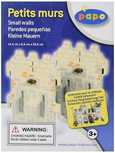 Papo Set 6 Weapon Master Castle (2 Small Walls) by Papo