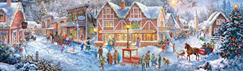 Buffalo Games - Panoramic - Holiday Collection - Christmas Village - 750 Piece Jigsaw Puzzle