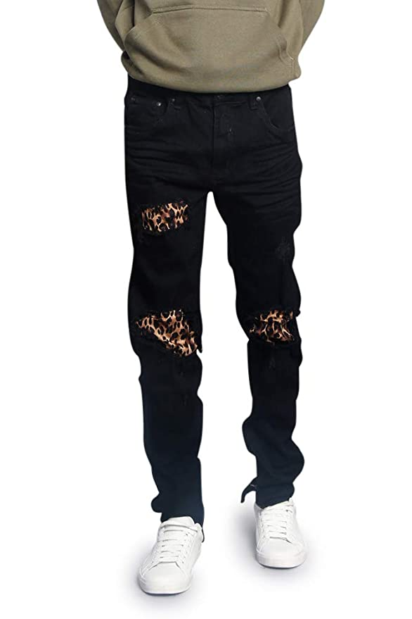 6e1c6b1508f423 Victorious Distressed Ripped and Torn Streetwear Jeans at Amazon Men's  Clothing store: