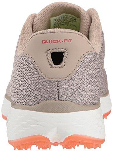 Twinkle Toes by Skechers Skechers Performance Womens Go Golf Birdie Golf Shoe, Natural/Pink Mesh, 9 M US