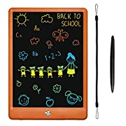 #LightningDeal LCD Writing Tablet, KURATU 10 inch Colorful Screen Electronic Drawing Pads for Kids…