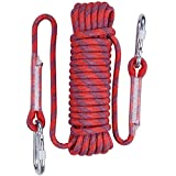 #7: Yolyoo Outdoor Climbing Rope Static Rock Climbing Equipment 32FT,49FT,65FT High Strength Accessory Fire Escape Safety Rappelling Rope