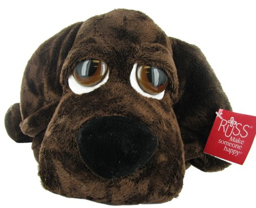 Wakely Lil Peeper Plush Puppy in Black by Russ Berrie