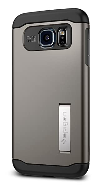 sports shoes 580b2 f7994 Spigen Slim Armor Galaxy S6 Case with Air Cushion Technology and Kickstand  for Galaxy S6 2015 - Gunmetal