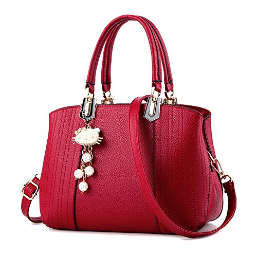 Sweet Mujer Ladies Wave Handbags Bag Para Messenger Handbag Clásicos Estereotipos Red New Shoulder Bolsos xTn1q0wBfn