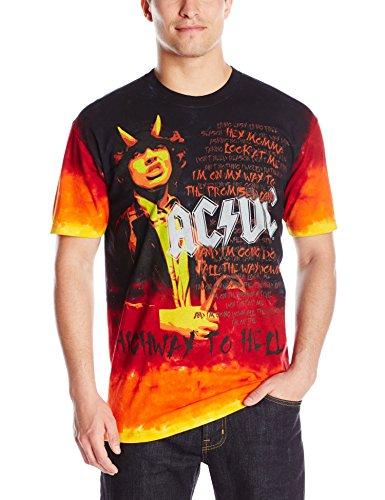 - Liquid Blue Men's AC/DC Hell Tie Dye T-Shirt, Multi, Medium