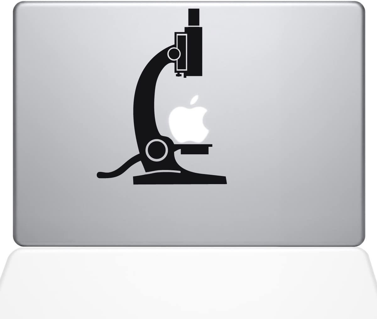"The Decal Guru 1650-MAC-11A-BLA Science Microscope Decal Vinyl Sticker, Black, 11"" MacBook Air"