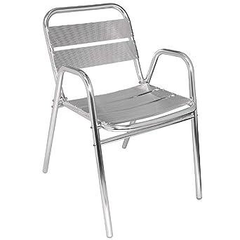 Bolero U501 empilage en aluminium Chaise avec accoudoirs Arcade (lot de 4)