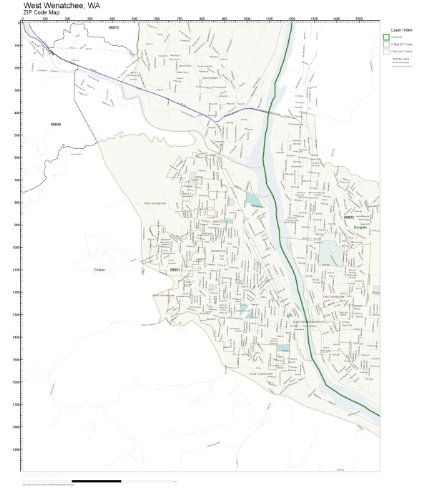 ZIP Code Wall Map of West Wenatchee, WA ZIP Code Map Not Laminated ()