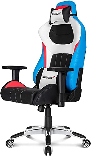AKRacing Masters Series Premium Gaming Chair with High Backrest, Recliner, Swivel, Tilt, 4D Armrests, Rocker and Seat Height Adjustment Mechanisms with 5 10 Warranty – Tri Color –