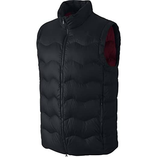 new product a63dd c04b1 Nike Air Jordan Flight Hyperply 550 Down Vest - Black  Gym Red - Medium