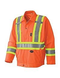 Pioneer V1070250-L High Visibility Traffic Safety Jacket, Orange L