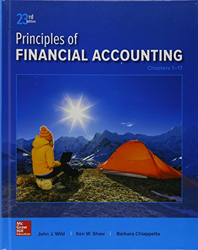 GEN COMBO PRINCIPLES OF FINANCIAL ACCOUNTING CHAPTERS 1-17; CONNECT ACCESS CARD