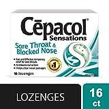 Cepacol Sore Throat Blocked Nose Lozenges 16 Count
