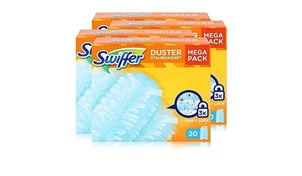 Swiffer polvo magnético Después de pluma (20 Paños) (4 unidades): Amazon.es: Hogar