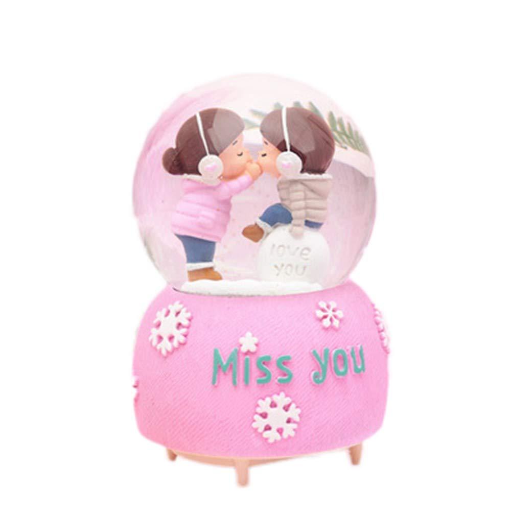 WRUMLJUFX palla di cristallo carillon carillon tanabata giorno di san valentino di inviare uomini e donne amiche amiche creativo romantico regalo di compleanno, angelo un medio
