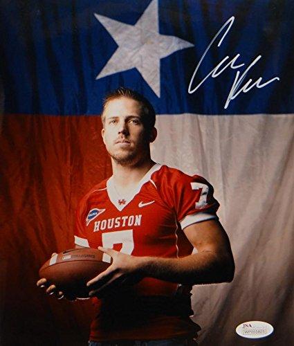 Case Keenum Autographed Houston Cougars 8x10 Flag Photo- JSA W Authenticated