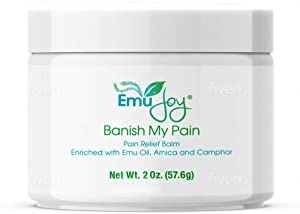 Emu Oil Pain Relief Cream with Arnica for Arthritis Muscle Pain Back Ache Sprains - Rapid Relief for Leg & Foot Cramps Joint Pain Fibromyalgia Bursitis
