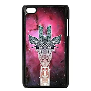 Universe Giraffe Animal Protective Hard PC Cover Case for iPod Touch 4, 4G (4th Generation)