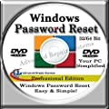 COMPUTER PASSWORD RESET - Recovery Boot Password Reset CD Disc for Windows XP, Vista, 7, 8, 8.1 and Windows 10 (All Versions of Windows)