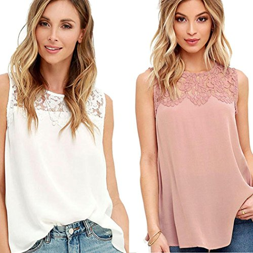 DaySeventh-Women-Chiffon-Lace-Sleeveless-Shirt-Blouse-Comfort-Tank-Tops