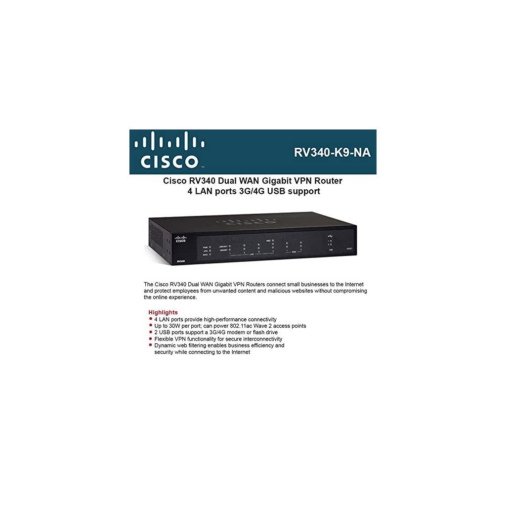 Cisco RV340-K9-NA Dual WAN Gigabit Router – MK Library