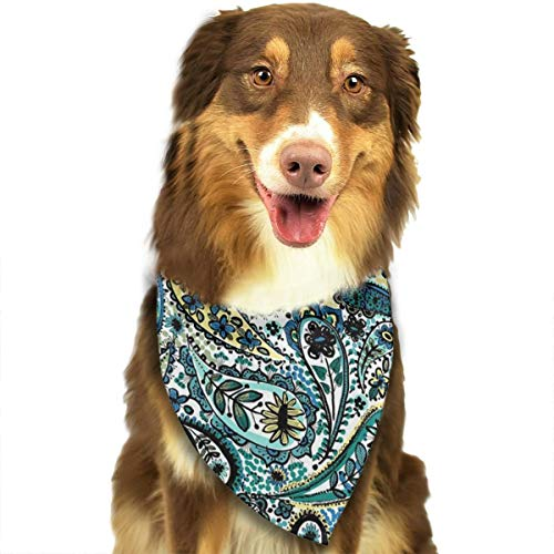 Jadetian Paisley Linea Dog Bandana - Washable Triangle Bibs Fashion Pet Scarfs Accessories Pet Birthday Gift ()