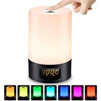 LED Wake Up Light Mood Light Beside Lamp with Touch Control Sunrise Alarm Clock USB Rechargeable Best Gifts for Kids