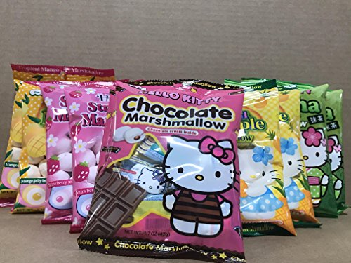 Price comparison product image KC Commerce HELLO KITTY Marshmallow Variety Pack (Variety Pack of 10)