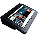 Sony Tablet S S1 SGPT111US/S & SGPT112US/S Wi-Fi Tablet 16GB/32GB Custom Fit Portfolio Leather Case Cover with Built In Stand- Black