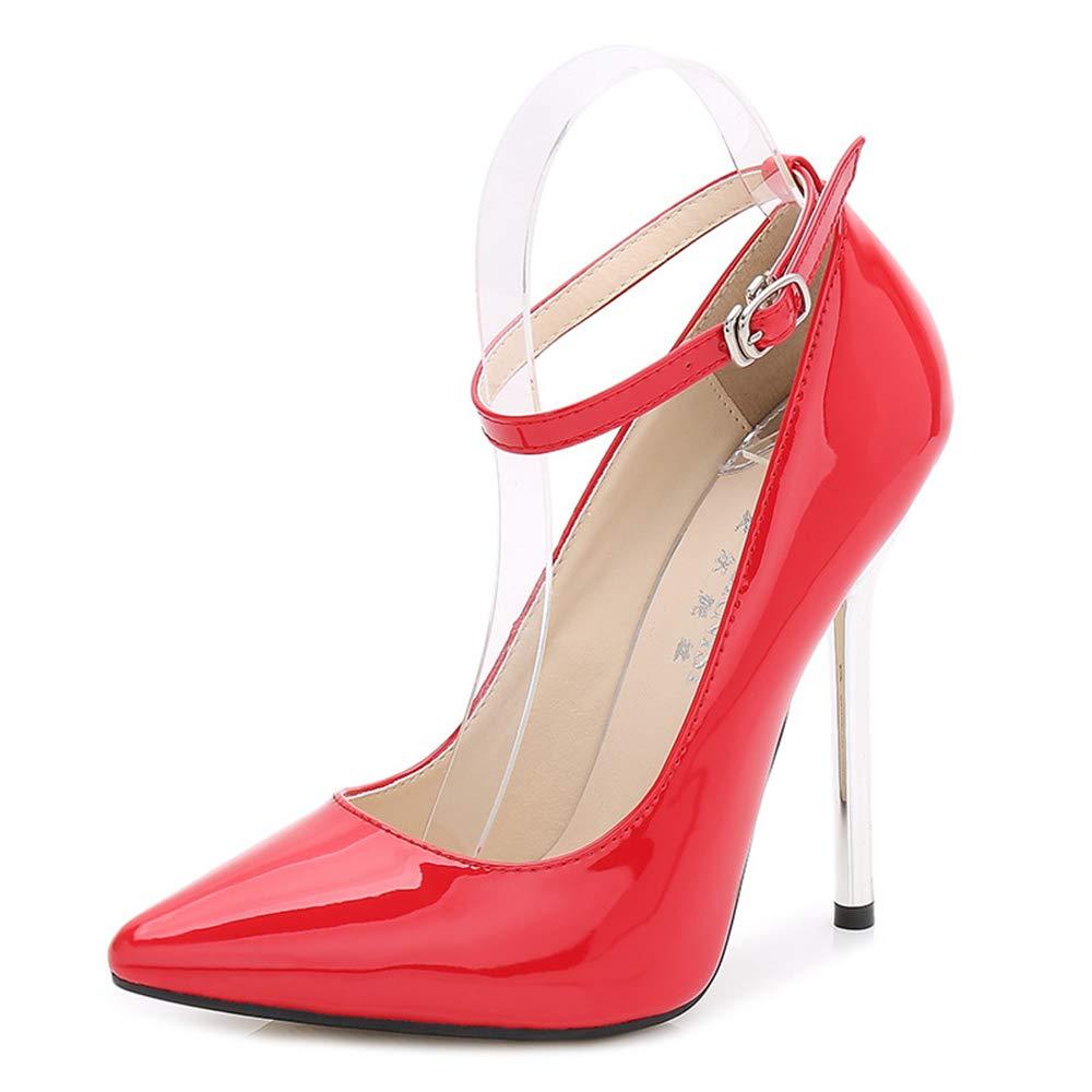 Jqdyl High Heel Wies Model große Größe Super High Heel Stiletto Model Wies Hosted Einzelne Schuhe Weiblich d3f7df