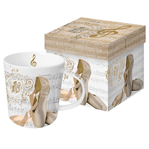 Paperproducts Design 603102 Concerto Ballet Gift Boxed Mug, Brown